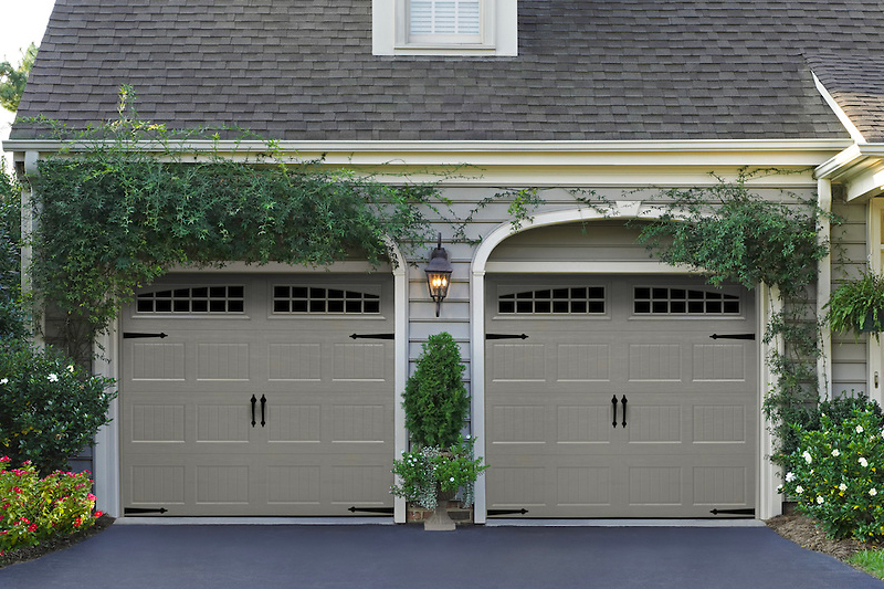 dark grey Garage Door, Residential